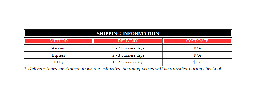 Shipping Table